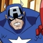 Captain America played by Brian Bloom