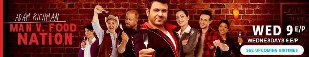 Man v. Food Nation TV Show Banner
