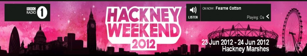 Radio 1's Hackney Weekend 2012 (UK) TV Show Banner