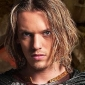 King Arthur played by Jamie Campbell Bower
