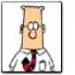 Dilbert played by Daniel Stern