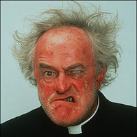 Father Jack Hackett played by Frank Kelly (II)