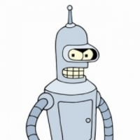 Bender Bending Rodriguez played by John Di Maggio
