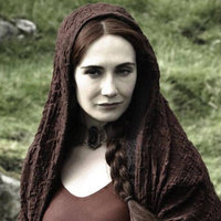 Melisandre played by Carice van Houten
