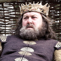 Robert Baratheon played by Mark Addy