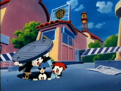 Animaniacs - 01x223 Pursuit - Coming Out of a Manhole