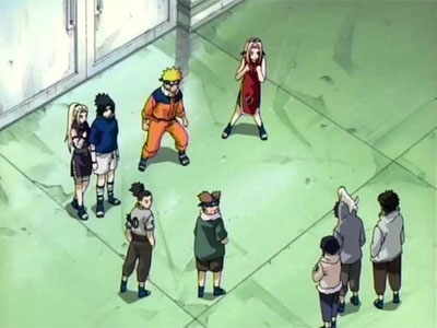 Naruto (JP) - 01x23 Defeat the Rivals! All Nine Rookies have Assembled