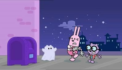 Summary wubbzy watches a scary movie and thinks there are monsters in