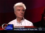The Colbert Report David Byrne