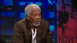 The Daily Show - 18x108 Morgan Freeman Screenshot