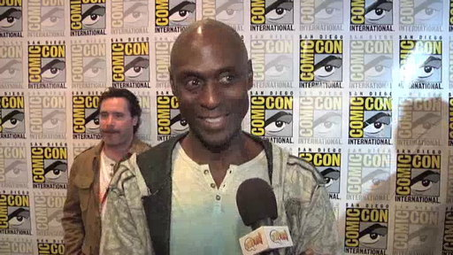 S4E0 Lance Reddick in the Press Room