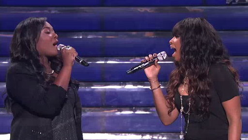 "S12E36 Candice Glover and Jennifer Hudson Performs ""Inseparable"""
