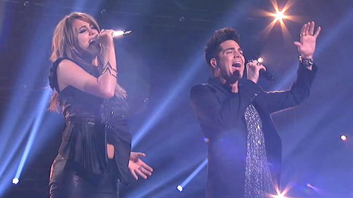 "S12E36 Angie Miller and Adam Lambert Perform ""Titanium"""