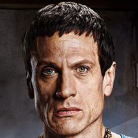 Crassus played by Simon Merrells