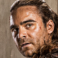 Gannicus played by Dustin Clare