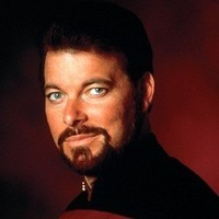 Commander William T. Riker played by Jonathan Frakes