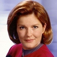 Captain Kathryn Janeway (later Admiral) played by Kate Mulgrew