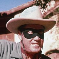 The Lone Ranger played by Clayton Moore