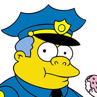 Chief Wiggum played by Hank Azaria