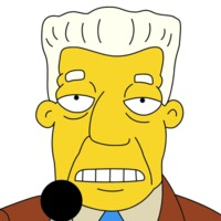 Kent Brockman played by Harry Shearer