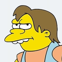 Nelson Muntz played by Nancy Cartwright