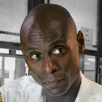 Lt. Cedric Daniels played by Lance Reddick